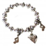 LUNA London Bracelet Pewter Bead