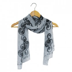 Scarf Music Note Design Black