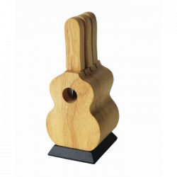 Wooden Cheese Knife Set Guitar
