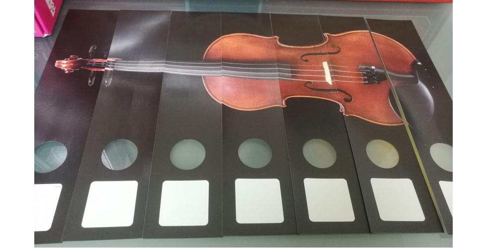 File label Violin 7-part GEIGE Vienna World