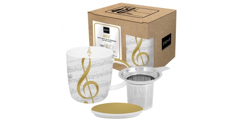I Love Music Mug lid & strainer 0,35l