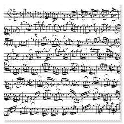 Glasses WIPE Sheet music white BACH Vienna World