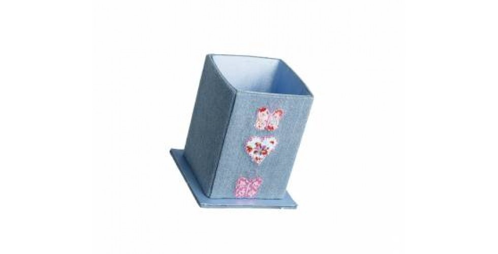 Denim Butterfly Pen Holder