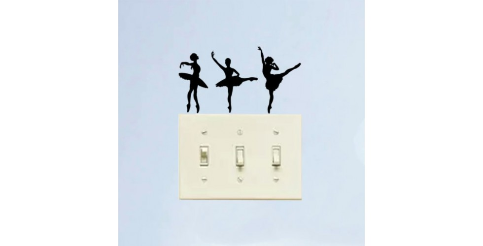 Light Switch Stickers Ballerinas (set of 3)