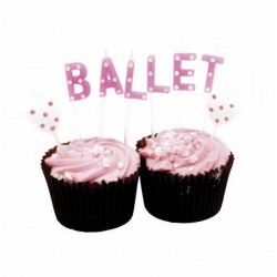 Ballet Wording Birthday Candles