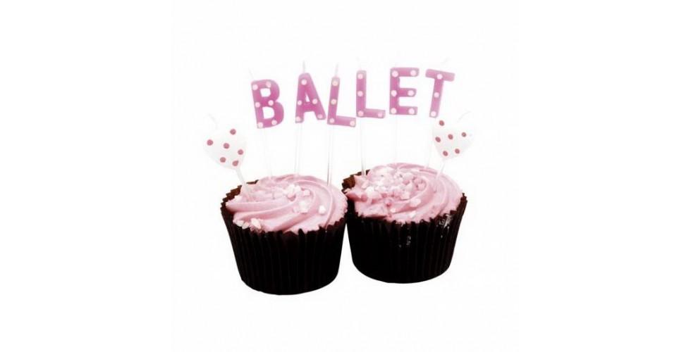 Ballet Wording Birthday Candles