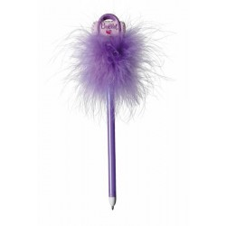 Purple Ballet Bag Fluffy Pen