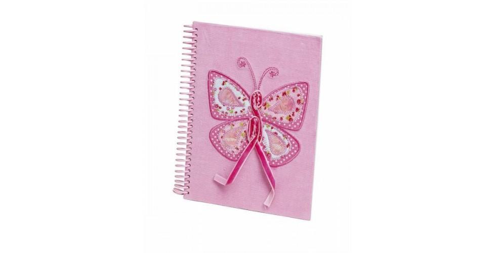 Butterfly Notebook Pink