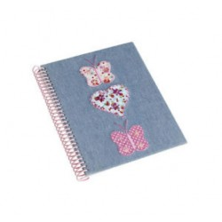 Denim Butterfly Notebook A5