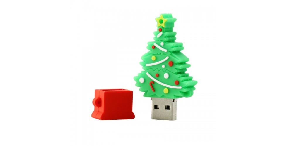 8GB Christmas Tree USB Flash Drive