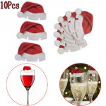 10 x Santa HAT Glass decorations
