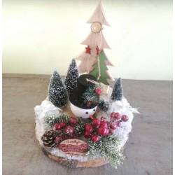 "Adorable Christmas decoration""Snow Man"""