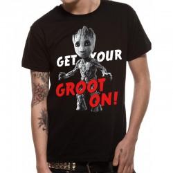 Marvel T Shirt Guardians Vol 2 Groot On Mens SMALL