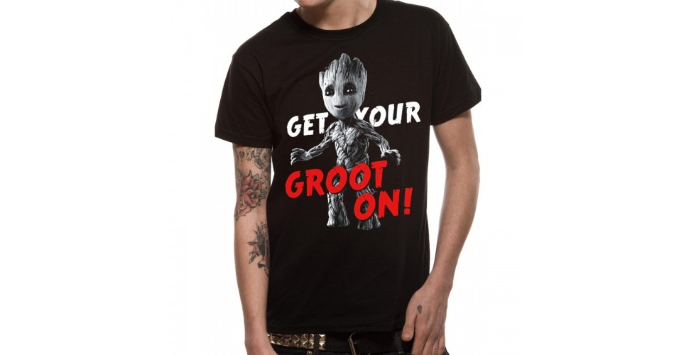 Marvel T Shirt Guardians Vol 2 Groot On Mens SMALL