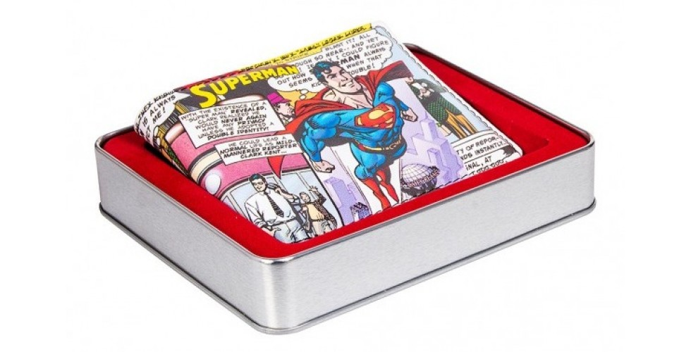 Superman Wallet In A Tin Superman Flies