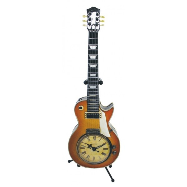 Vintage Clock Sunburst Guitar On Stand