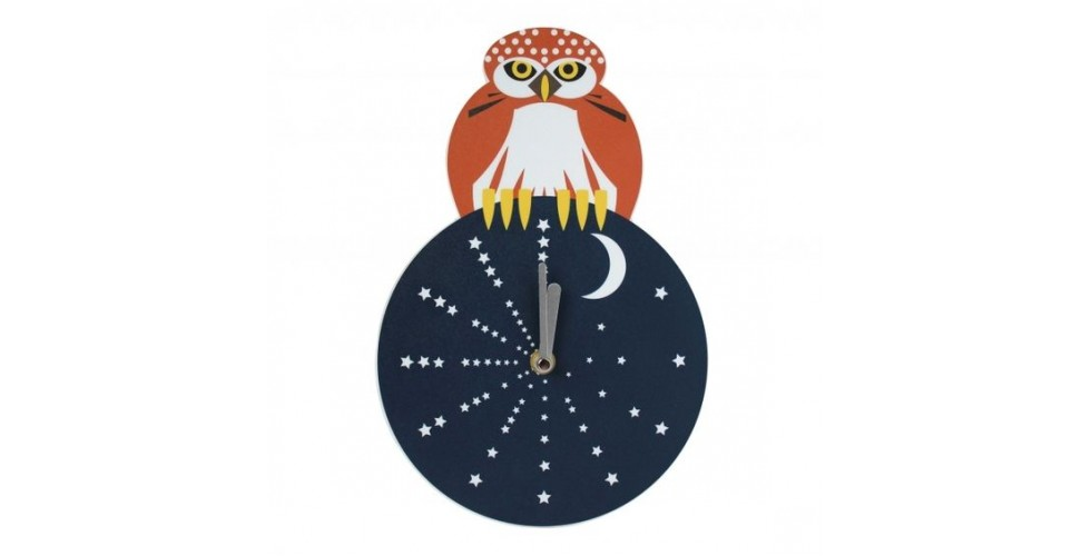 Night Owl Wall Clock by I like birds