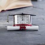 Miniature Clock Graduation Hat & Scroll