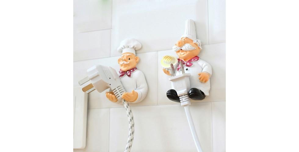 Retro Chef Rack Hook plug holder