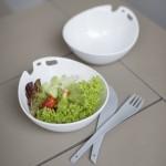 Shadow Salad bowl w/ servers & 2 bowls for desserts KOZIOL