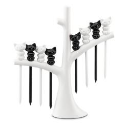 MIAOU Hors d'oeuvres forks with tree Koziol