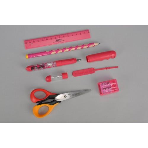Set stationery for left-handers, pink