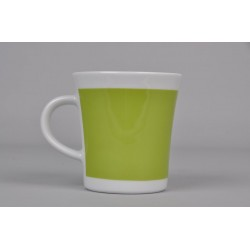 Porcelain Mug Green for Left Handed