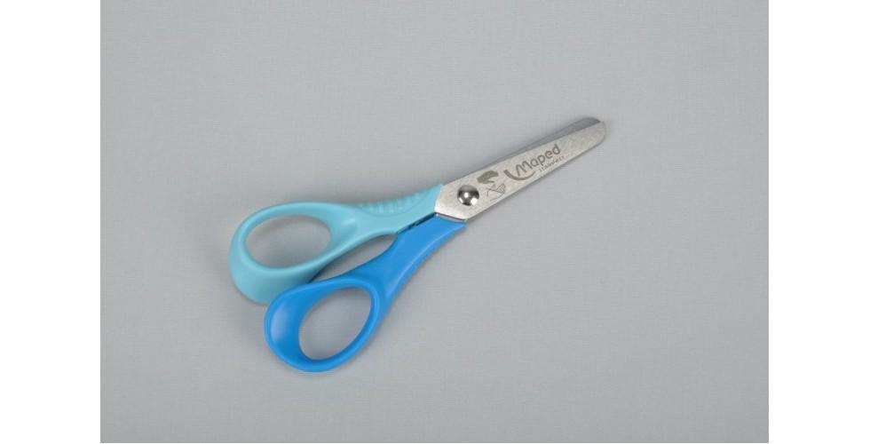 Child scissor for left handed 12 cm, blue