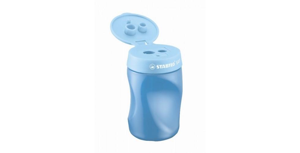 STABILO EASYsharpener 3-in-1 Left Handed Ergonomic Sharpener - blue