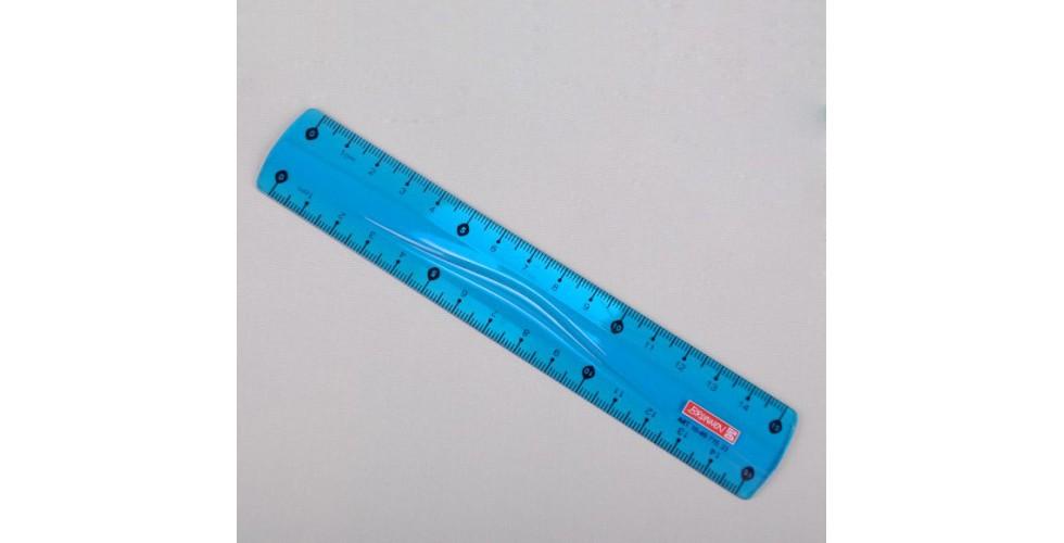 Ruler 15cm Flexible for Lefties, blue