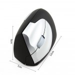 Wireless Left-hand Vertical Optical Mouse