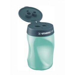 STABILO EASYsharpener 3-in-1 Left Handed Ergonomic Sharpener - petrol
