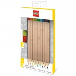 Set Of 9 Multicoloured Lego Pencils With 2 Pencil Toppers
