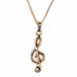 Pendant With Rhinestones Treble Clef