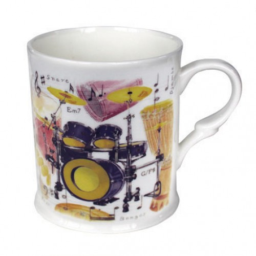 Fine China Mug Drums Design