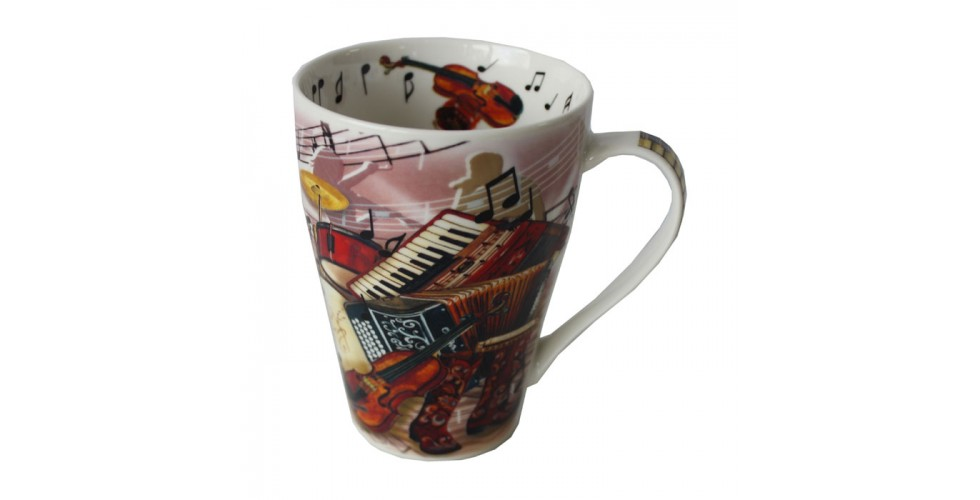 Music Mug Traditional Music 15oz Set Of 4