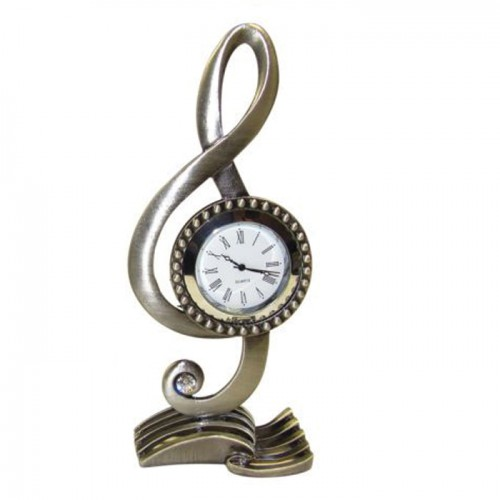 Music Clock: Paperweight Treble Clef