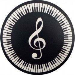 Mouse Mat  - Treble Clef & Keyboard Circular