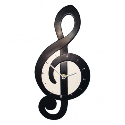 Wall Clock TREBLE CLEF Shaped