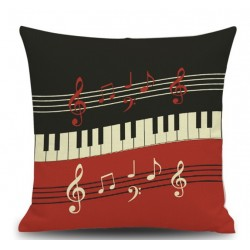 PIANO KEYS & Musical notes pillow