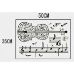 Removable VIOLIN Music Notes Wall Sticker