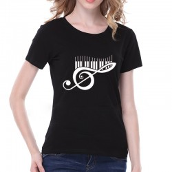 T-Shirt Piano black, cotton, S small