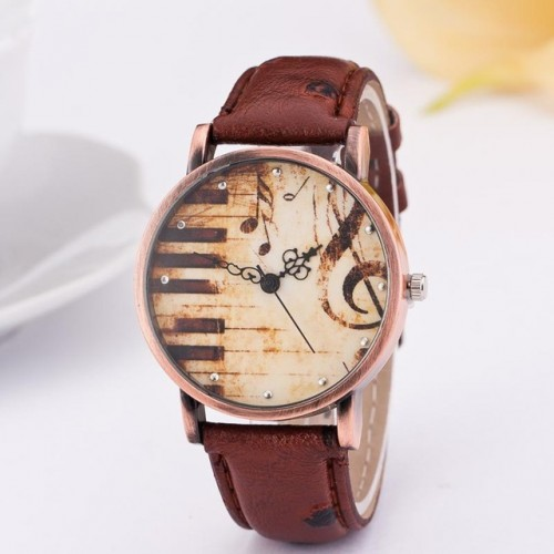 Trendy Music Notes Wrist Watches