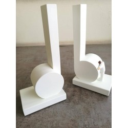 Bookends: White Crotchet
