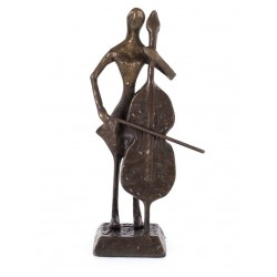 Copper Figurine: Cello Player