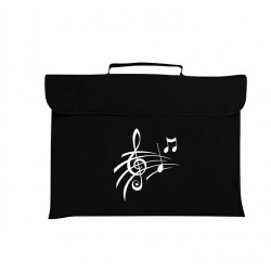 Mapac Music Bag Treble Clef & Notes (Black)