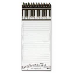 Piano Keys Magnetic Shopping List