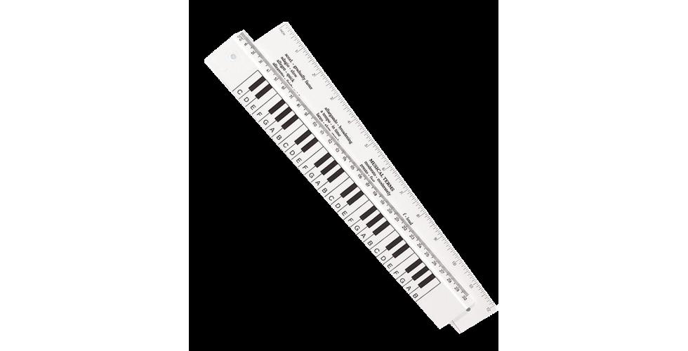 Keyboard Ruler 30cm Double Sided