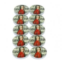 Oval eraser with Mozart imprint