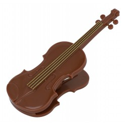 Paper Clip Violin Brown